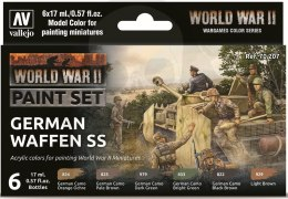 Vallejo 70207 Zestaw Model Color 6 farb - WWII German Waffen SS