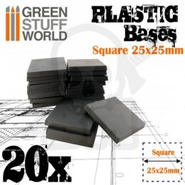 Plastic Square Base 25mm - Pack x20