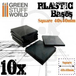 Plastic Square Base 40mm - Pack x10
