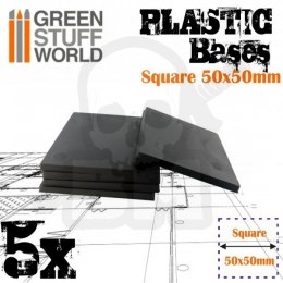 Plastic Square Base 50mm - Pack x5
