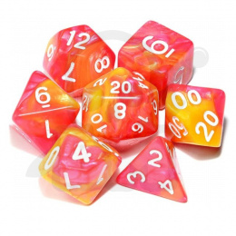 Set of 7 RPG dice 2Color - Red/Yellow d4 6 8 10 12 20 i 00-90
