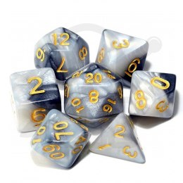 Set of 7 RPG dice 2Color - Black/White d4 6 8 10 12 20 i 00-90