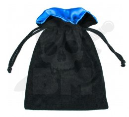 Black/Blue Dice Bag 15x12cm