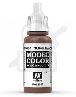 Vallejo 70846 Model Color 17 ml Mahogany Brown