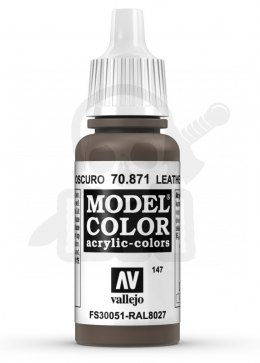 Vallejo 70871 Model Color 17 ml Leather Brown