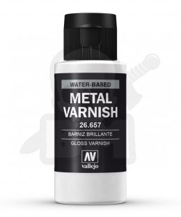 Vallejo 26657 Gloss Metal Varnish 60 ml
