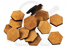 HDF MDF Bases - Hexagonal 25 mm x20