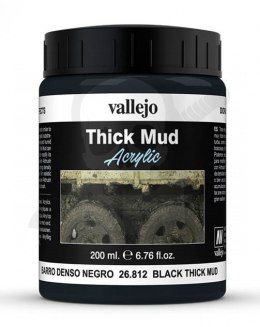 Vallejo 26812 Weathering Effects Thick Mud 200 ml. Black Mud