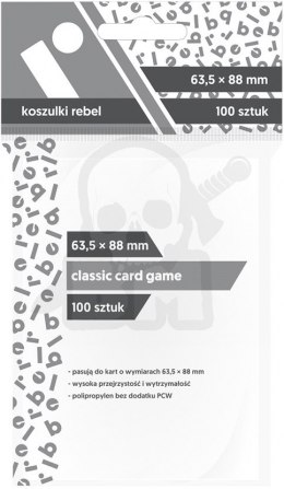 Koszulki Rebel na karty 63,5x88 mm Classic Card Game 100 szt.