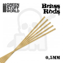 Pinning Brass Rods 0,5mm x5