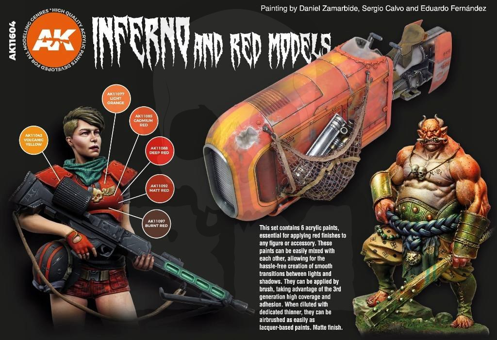 AK Interactive AK11604 Inferno And Red Creatures Set