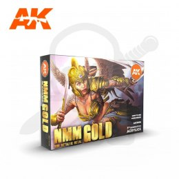AK Interactive AK11606 NMM Non Metallic Metal Gold Set