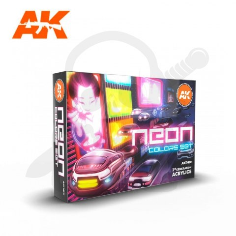 AK Interactive AK11610 Neon Colors Set