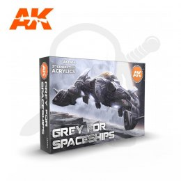 AK Interactive AK11614 Grey For Spaceships Set