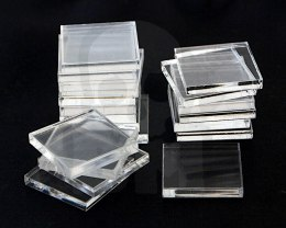 Acrylic Bases - Square 20 mm CLEAR x20