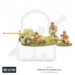 British 8th Army 6-pdr anti tank gun