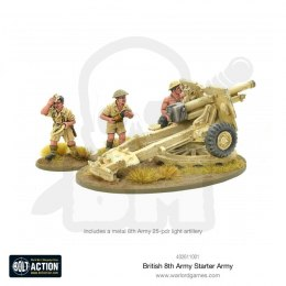 British 8th Army 25-pdr light artillery