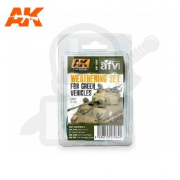 AK Interactive AK064 Weathering Set for Green Vehicles