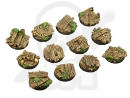 Wood Bases, Round 25mm - 5 pcs